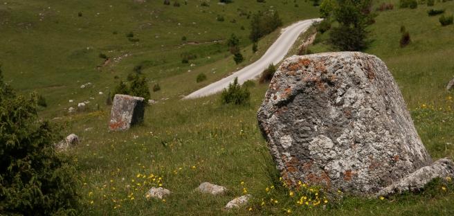 Medieval Tombstones in Bosnia's Dinaric Alps.