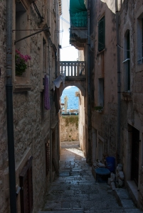 A view to the sea on Korcula.